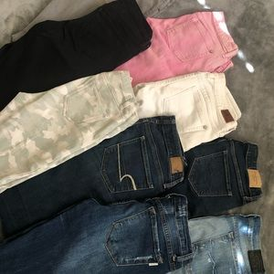 Size 2-4 jeans. Go as a bunch. $80